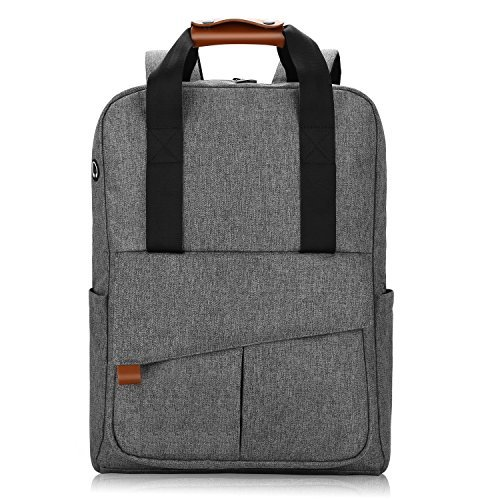 dd1275c48c766 REYLEO Rucksack Business Backpack mit viel Stauraum 15.6 Zoll Laptop Tasche  Herren und Damen Wasserdicht Grau-24 Liter