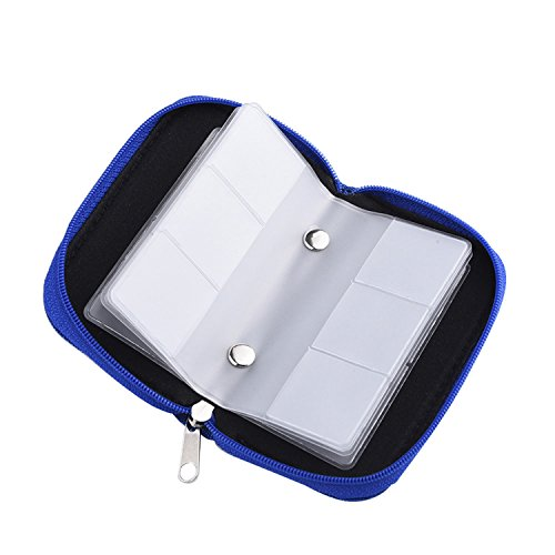 speicherkarten aufbewahrung tasche schutzh llen mit rei verschluss 22 schlitze f r sd sdhc mmc. Black Bedroom Furniture Sets. Home Design Ideas