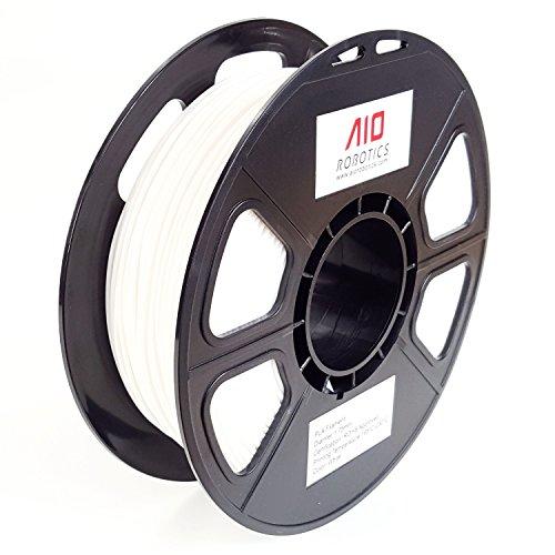 AIO Robotics AIOWHITE PLA 3D Drucker Filament, 0.5 Kg